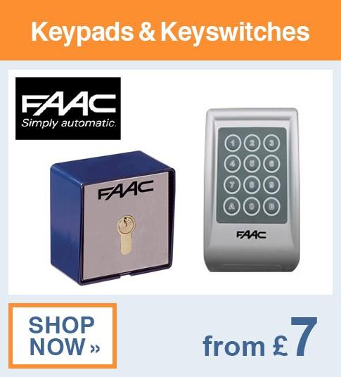 FAAC Keypads & Keyswitches