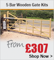 5 Bar Wooden Gates Kits