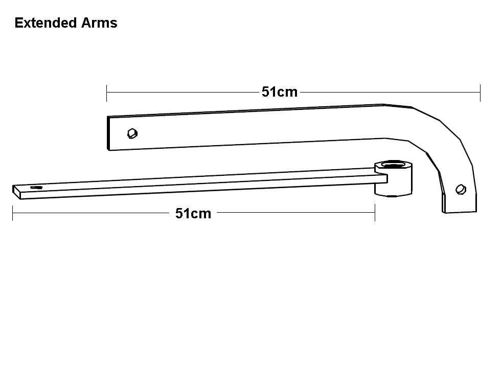 Extended articulated arms