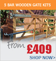 5 Bar Wooden Gate Kits