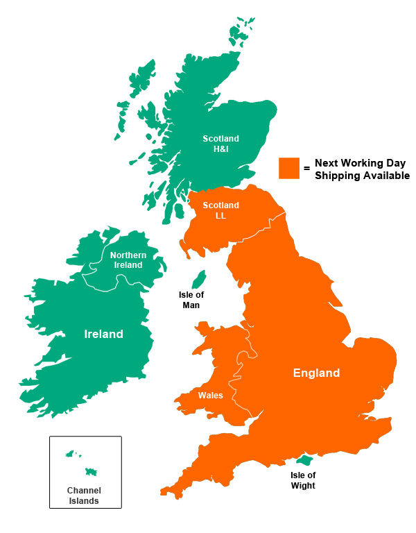 UK Map - Zone 1 Shipping Area