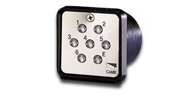 Image for Came S6001 Flush Mounted Keypad Including Card